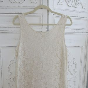 Candies Cream Lace Dress SZ. Large